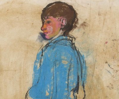 had thrived within the tenement closes and backcourts was vanishing along with the old buildings and subsequently dedicated herself to capturing what remained in her artworks.  Joan Eardley | Boy in a Blue Shirt | Estimate £10,000-15,000